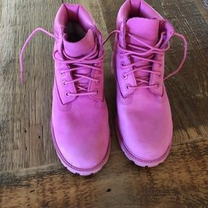 Girl's Pink Timberland Boots